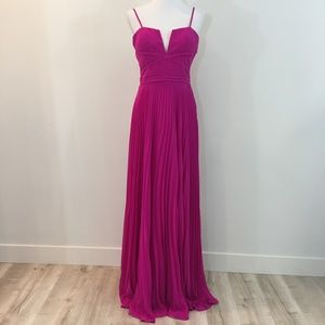 NWT LAUNDRY by Shelli Segal Hot Pink Evening Dress